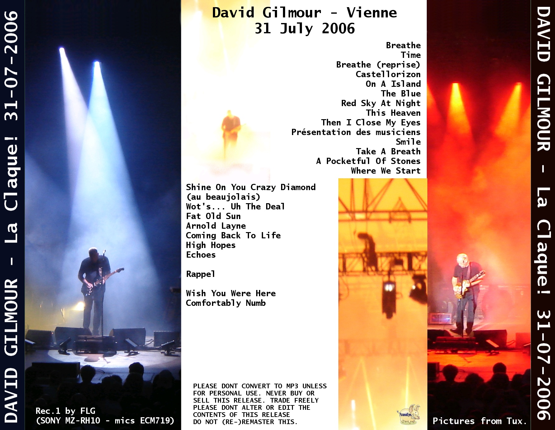 The Concert Database Live in Concert, David Gilmour, 2006-07-31